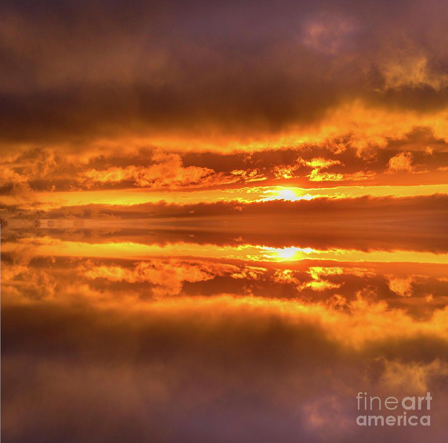 Golden Sunset Reflections by Alana Ranney