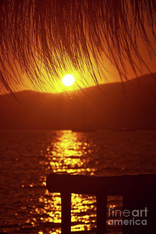 Golden Sunshine At Sunset Photograph