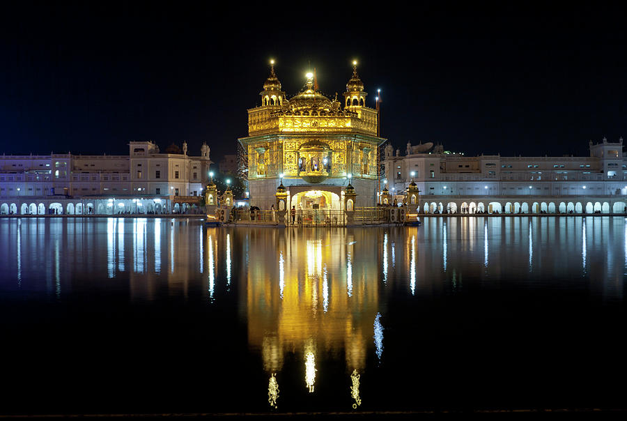 Golden Temple At Night In Amritsar Photograph by Yoav Peled