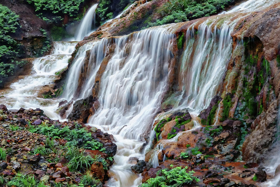 Waterfall Photograph - Golden Waterfall by Rick Lawler