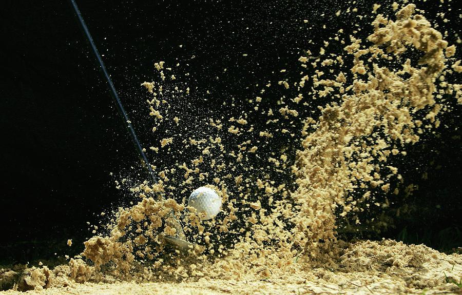 Golf Ball Being Hit Photograph by Kolbz