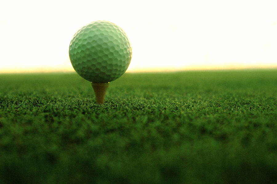 Golf Ball On Tee Photograph By Ken Reid
