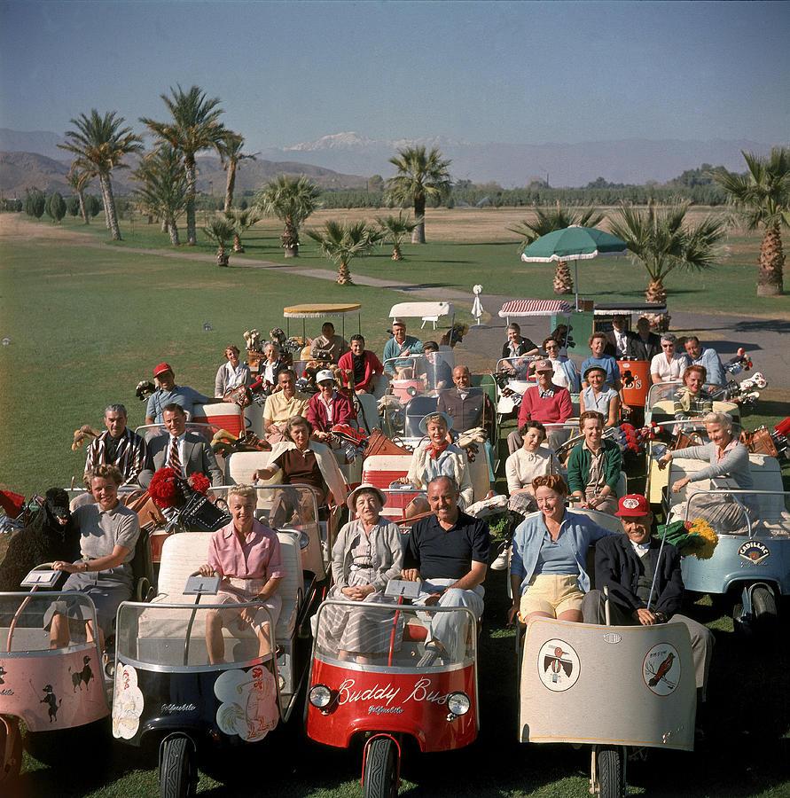 Golf Carts At Thunderbird Golf Club Photograph by Loomis Dean