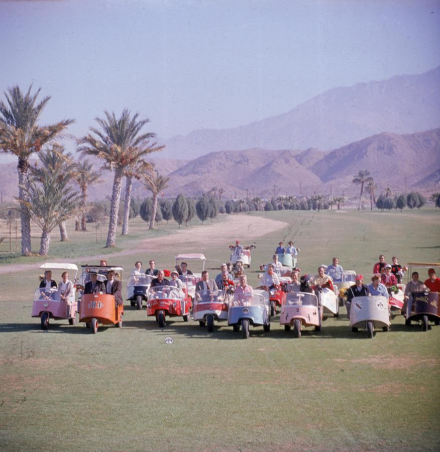 Golf Carts On Thunderbird Golf Club Photograph by Loomis Dean