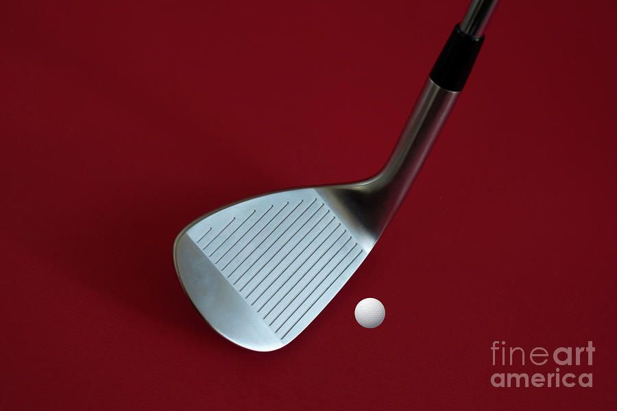 Golf Club Wedge and Golf Ball by Mats Silvan