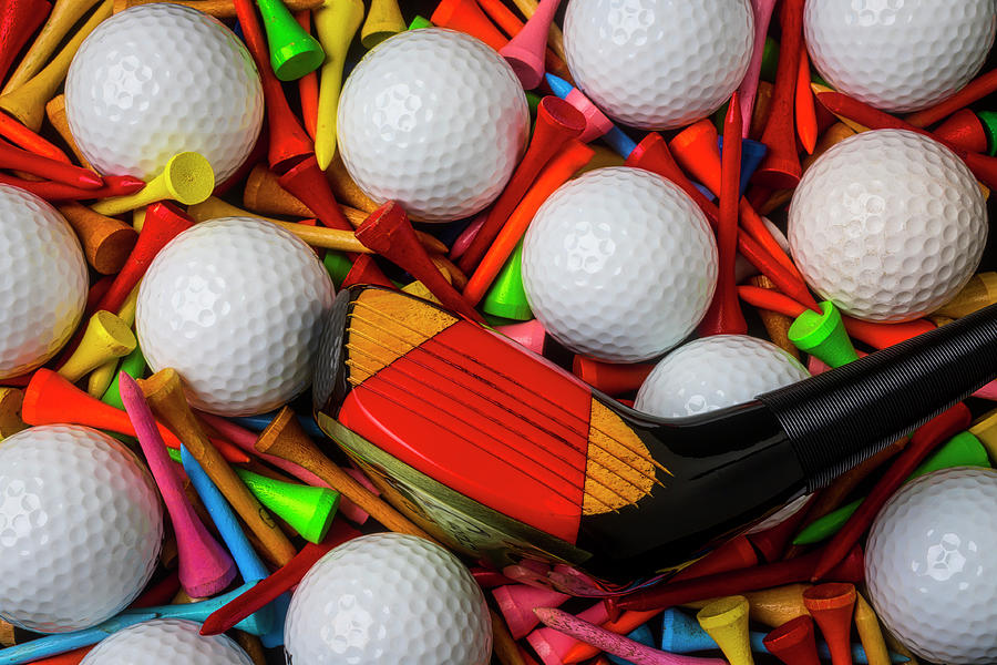 Golf Club With Balls And Tees by Garry Gay