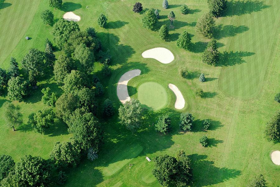 Golf Course Close Up From The Air Photograph by Groveb