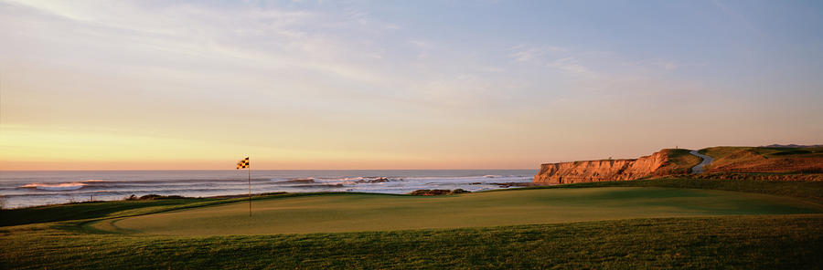Horizontal Photograph - Golf Course On The Coast, Half Moon by Panoramic Images