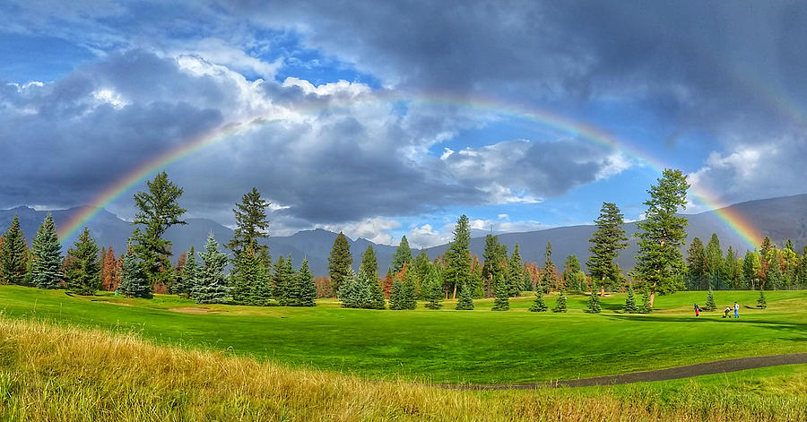 Golf Course Rainbow by Bill Cubitt