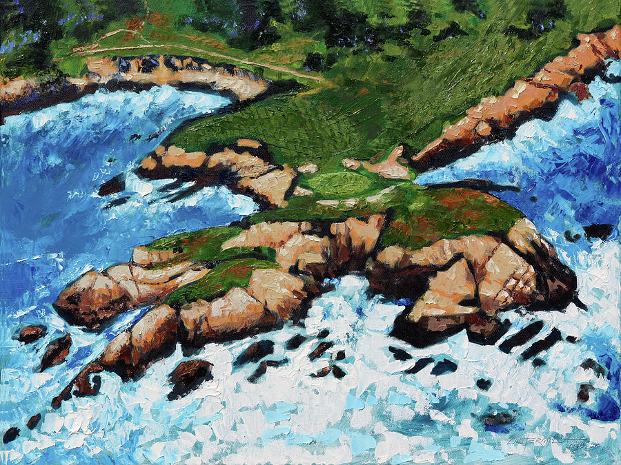 Golf Painting - Golf On The Gulf by John Lautermilch