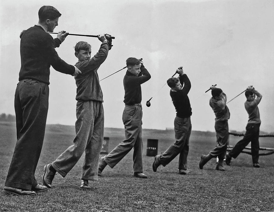 Golf Practice Photograph by Fpg