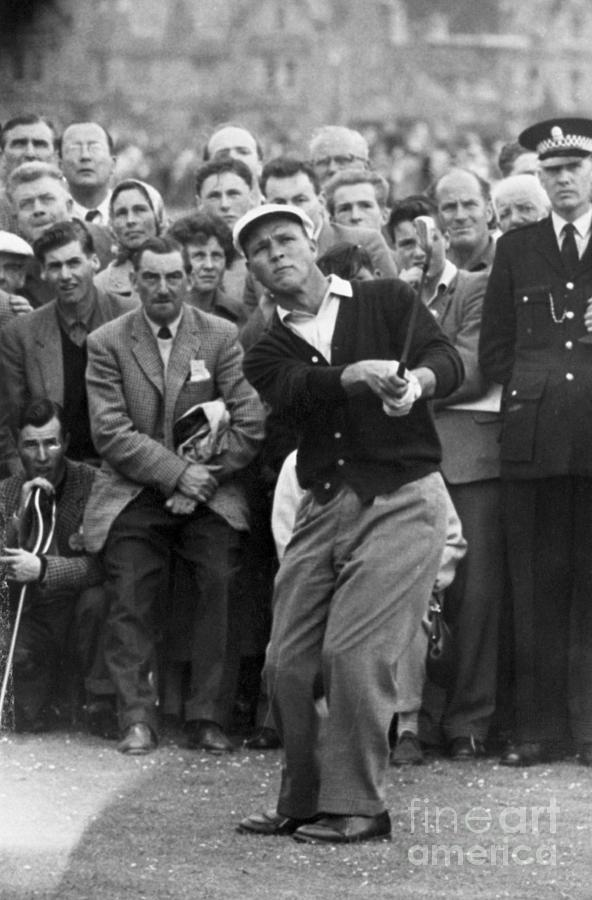 Golfer Arnold Palmer Competing Photograph by Bettmann