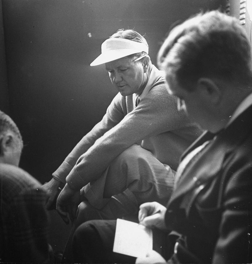 Golfer Byron Nelson C Talking To Photograph by Gabriel Benzur