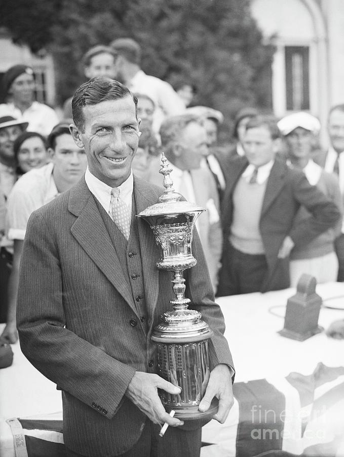 Golfer C. Ross Somerville Holding Golf Photograph by Bettmann