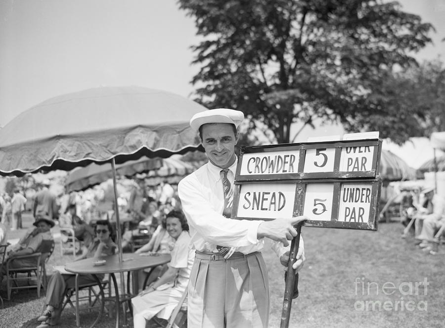 Golfer Sam Snead Pointing At Opening Photograph by Bettmann