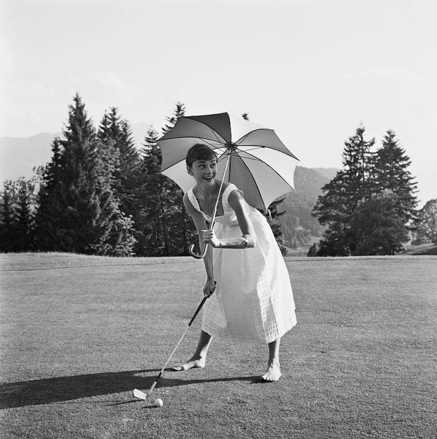 Golfing Hepburn Photograph by Hulton Archive