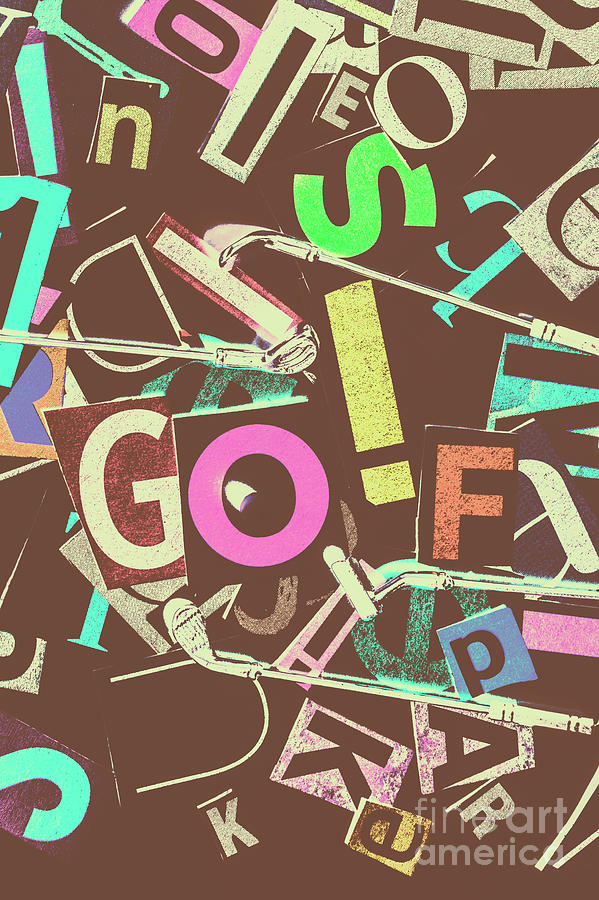 Letterpress Photograph - Golfing Print Press by Jorgo Photography - Wall Art Gallery
