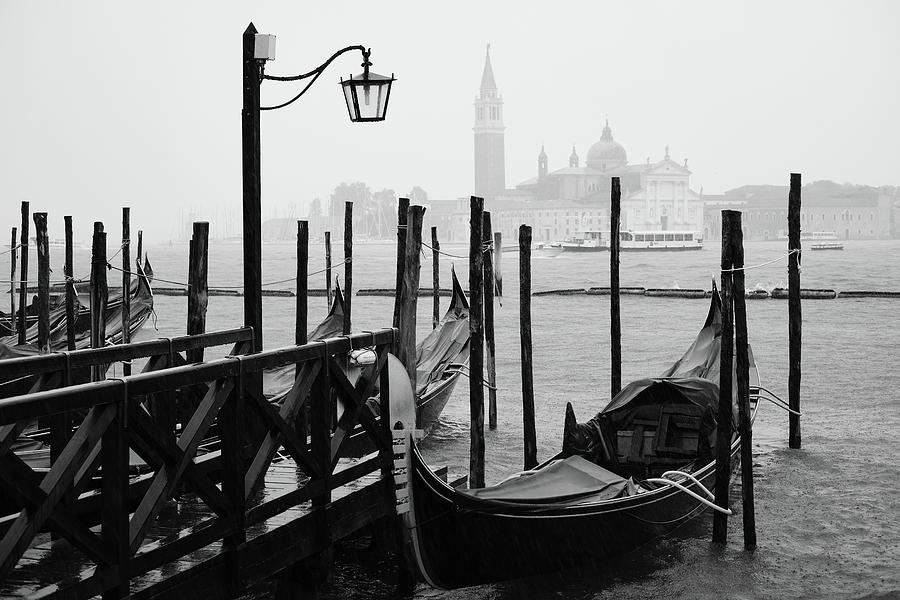 Gondola in the Rain, Venice, Italy by Richard Goodrich