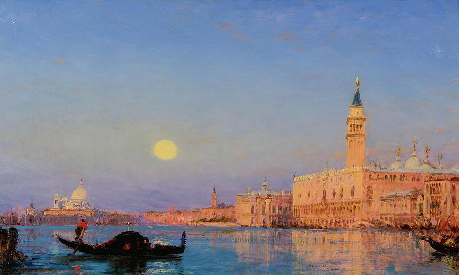 Felix Ziem Painting - Gondola, Venice by Felix Ziem