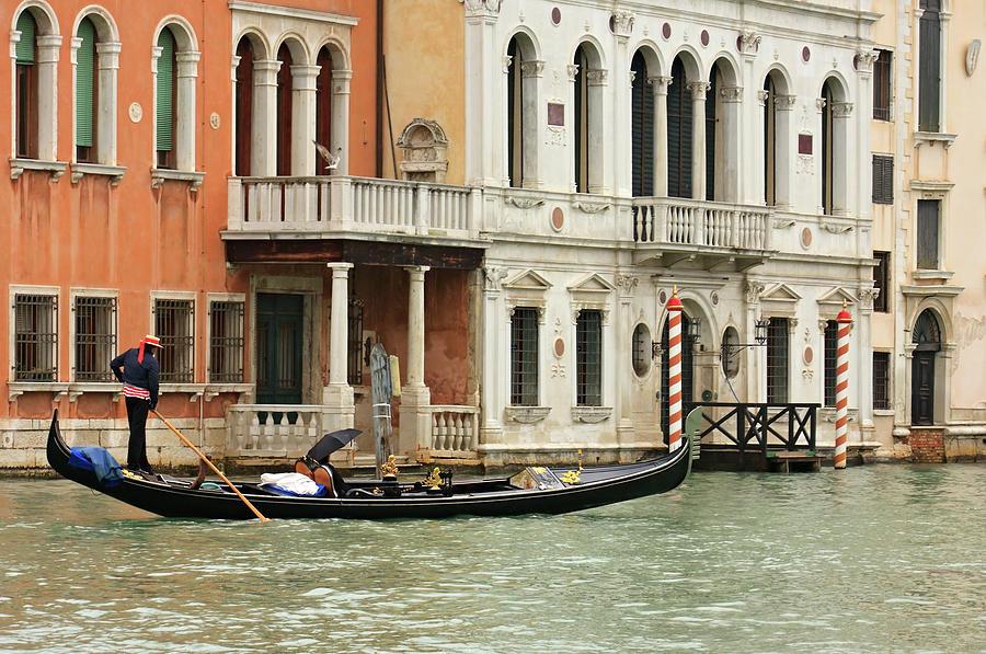 Gondola, Venice Photograph by Rusm