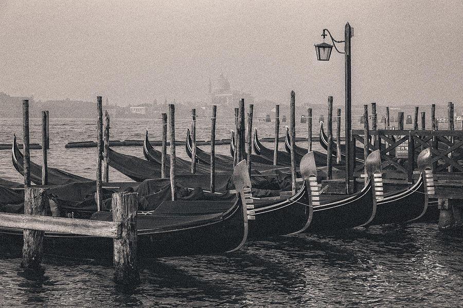 Gondolas at San Marco 2 by Suleyman Derekoy