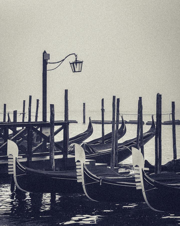 Gondolas at San Marco by Suleyman Derekoy