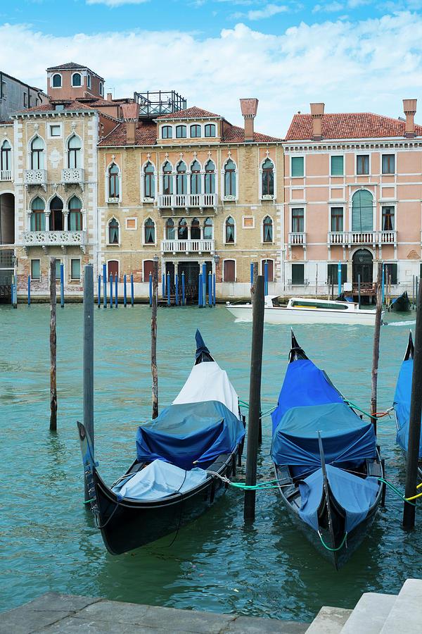 Gondolas At The Grand Canal Photograph by Arssecreta
