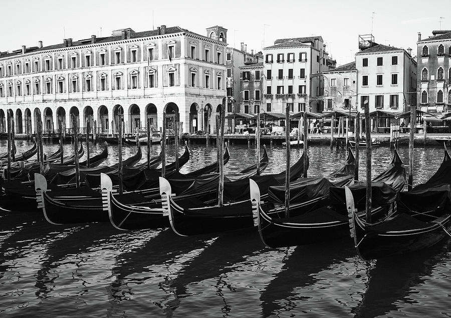 Gondolas on Grand Canal, Venice, Italy by Richard Goodrich