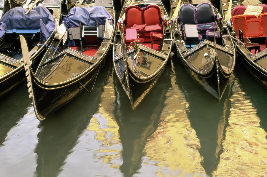 Gondolas, Venice, Veneto, Italy, Europe Photograph by Sergio Pitamitz / Robertharding