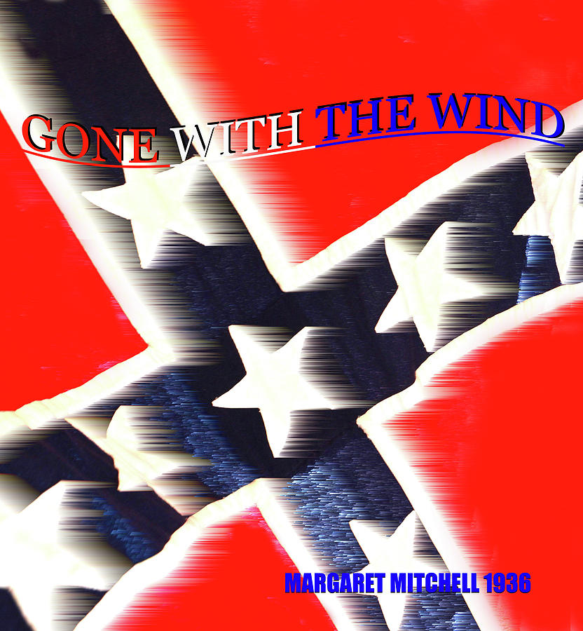 Gone With The Wind Mixed Media - Gone With The Wind Minimalism Book Cover Art by David Lee Thompson