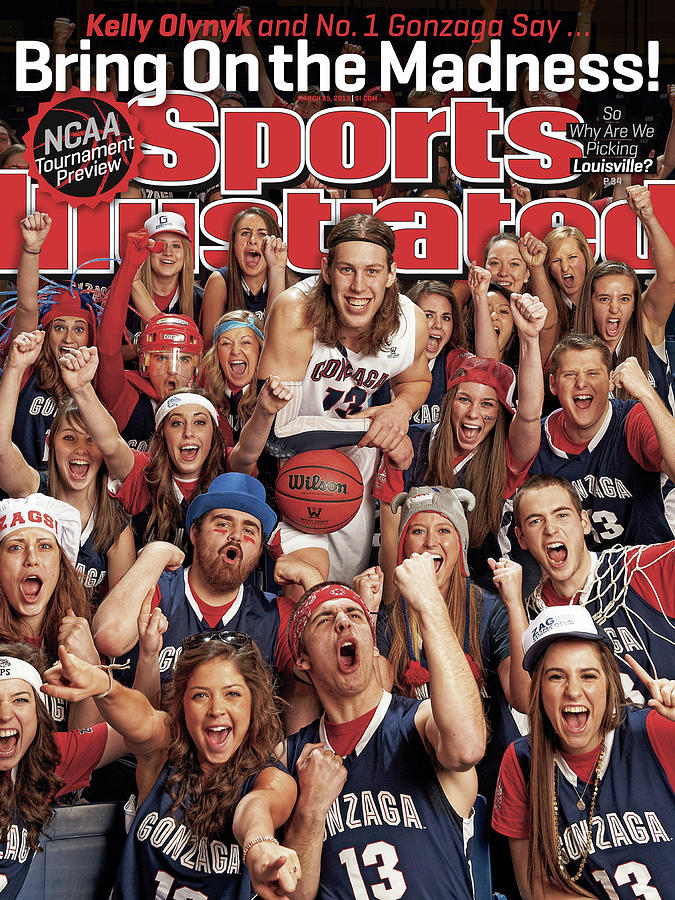 Gonzaga University Kelly Olynyk, 2013 March Madness College Sports Illustrated Cover Photograph by Sports Illustrated