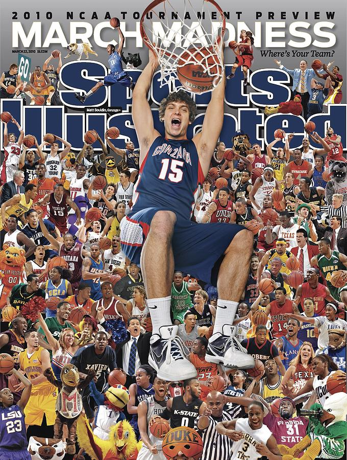 Gonzaga University Matt Bouldin, 2010 March Madness College Sports Illustrated Cover Photograph by Sports Illustrated