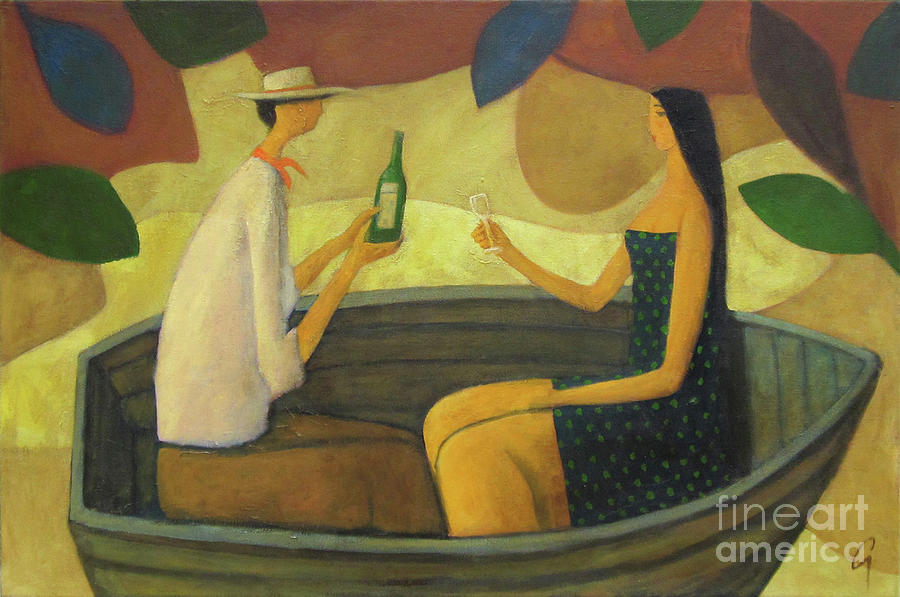 Boat Painting - Good Afternoon by Glenn Quist