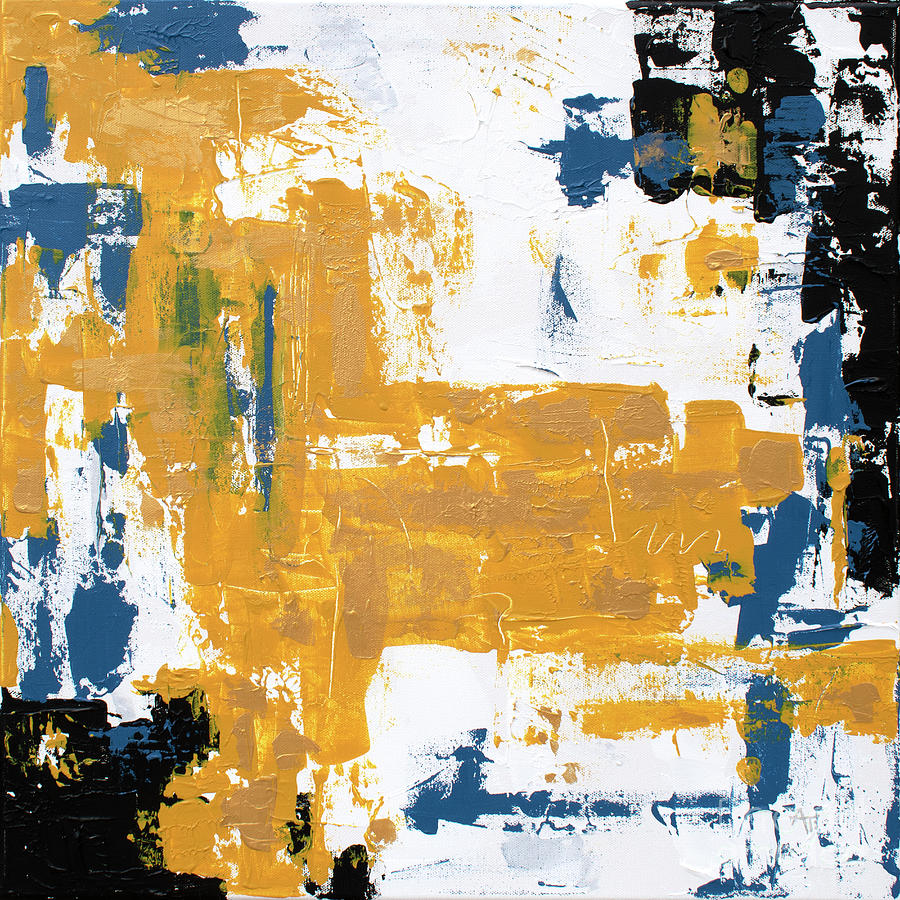 Good as Gold Abstract Painting by Annie Troe