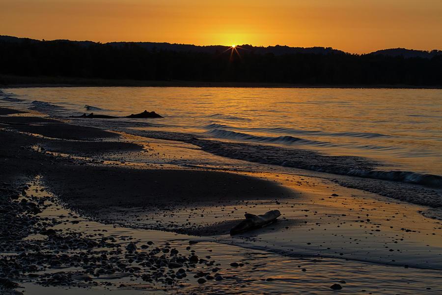Sleeping Photograph - Good Harbor Bay Sunset by Heather Kenward