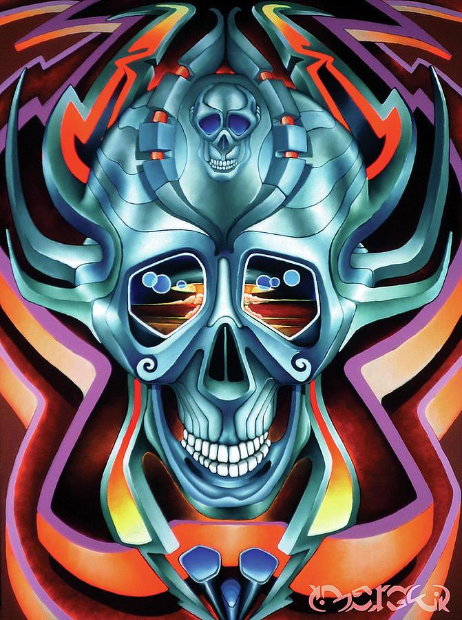 Skull Painting - Good Morning Damascus by Antoine Merger