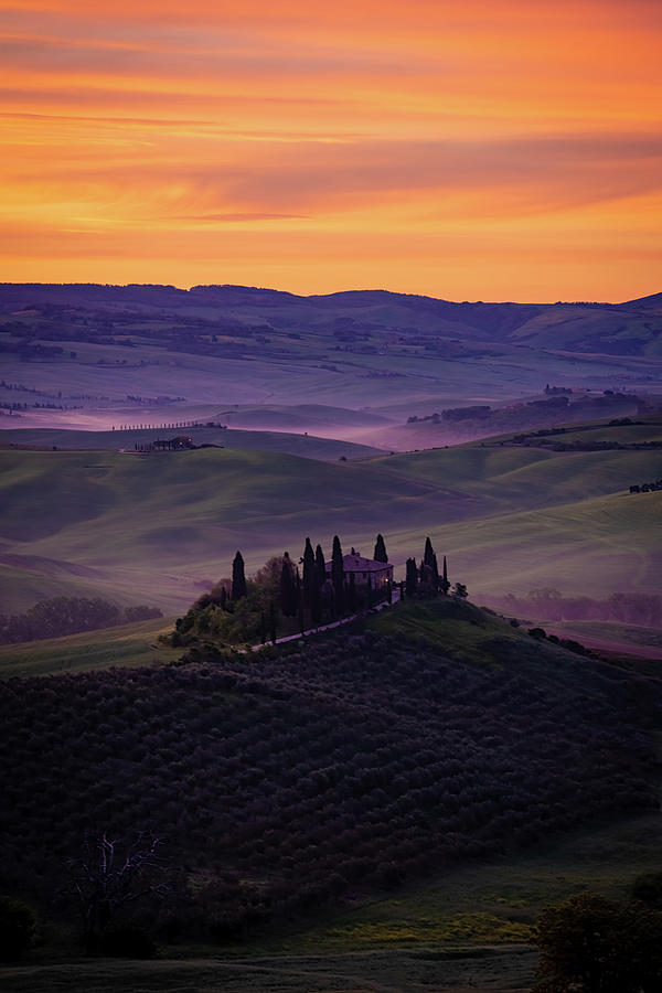 Good Morning San Quirico d' Orcia by Chris Lord