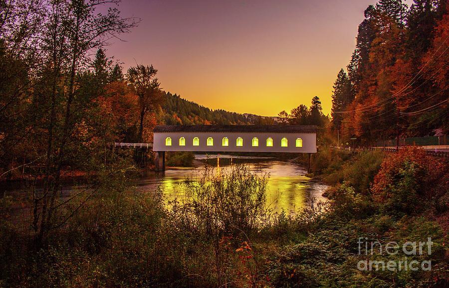 Goospasture Bridge Oregon by Michael Cross