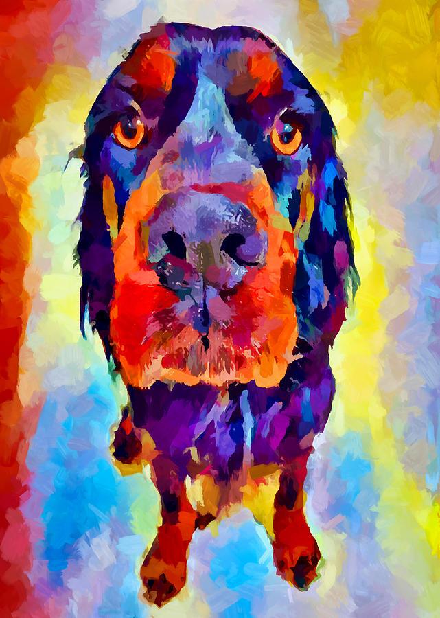 Gordon Setter Painting - Gordon Setter by Chris Butler