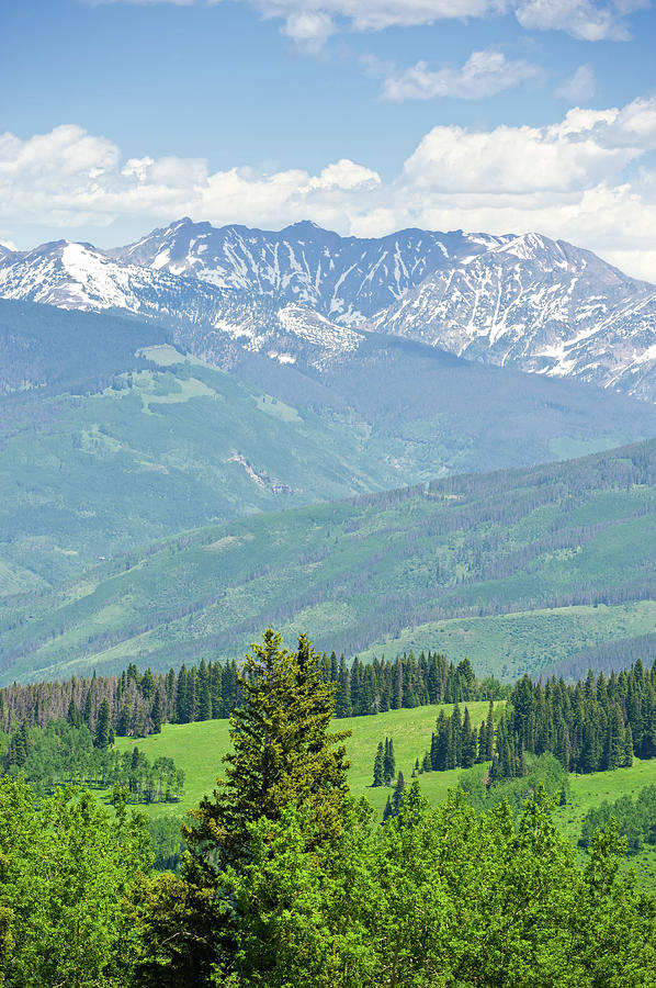 Gore Range Mountains In Summer Colorado Photograph by Adventure photo