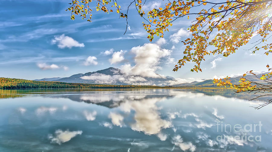 Gorgeous Alaskan mountain lake during Autumn on the Kenai penins by Patrick Wolfmountain lake during Autumn on the Kenai penins