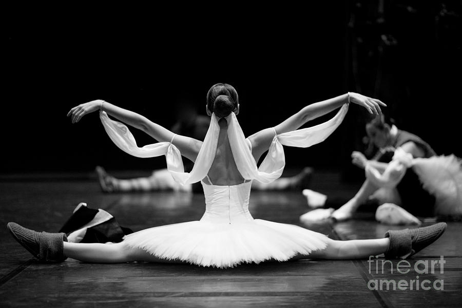 Muscular Photograph - Gorgeous Ballerina Repeating Movements by Anna Jurkovska