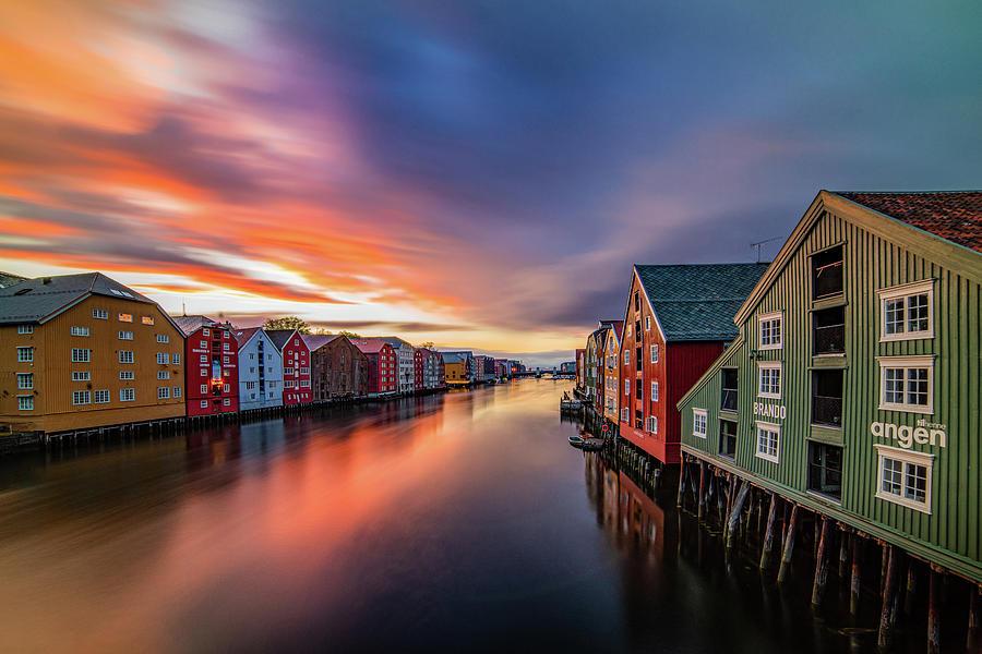 Gorgeous colors before rain In Trondheim   by Aziz Nasuti