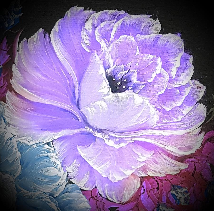Purple Painting - Gorgeous Rose In Purple  by Angela Whitehouse