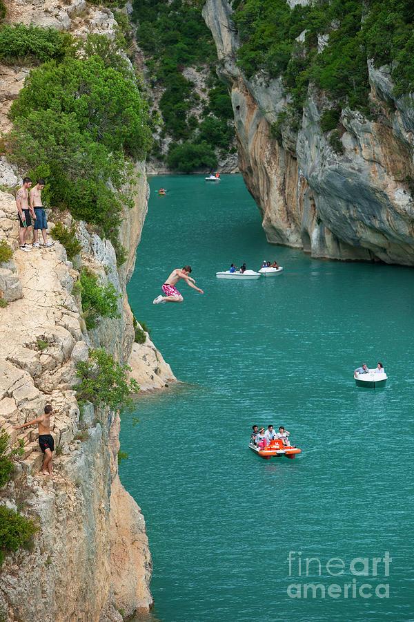 Gorges du Verdon - Cliff Jumping by Brian Jannsen