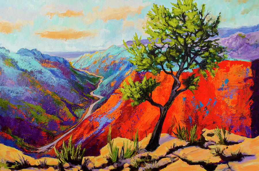 Gorge's Light - Impressionist Palette Knife painting by Patricia Awapara