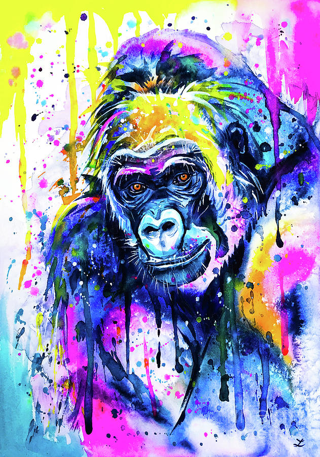 Gorilla 2 Mixed Media