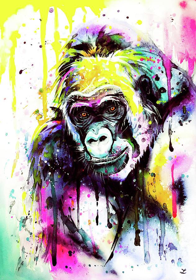 Gorilla 3 Painting