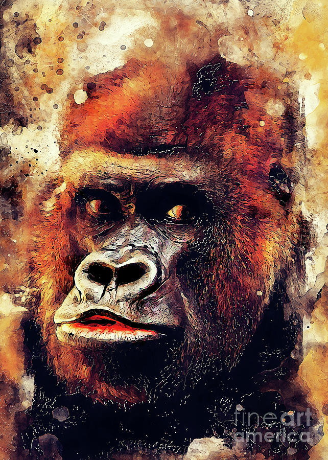 Gorilla Animal Digital Art