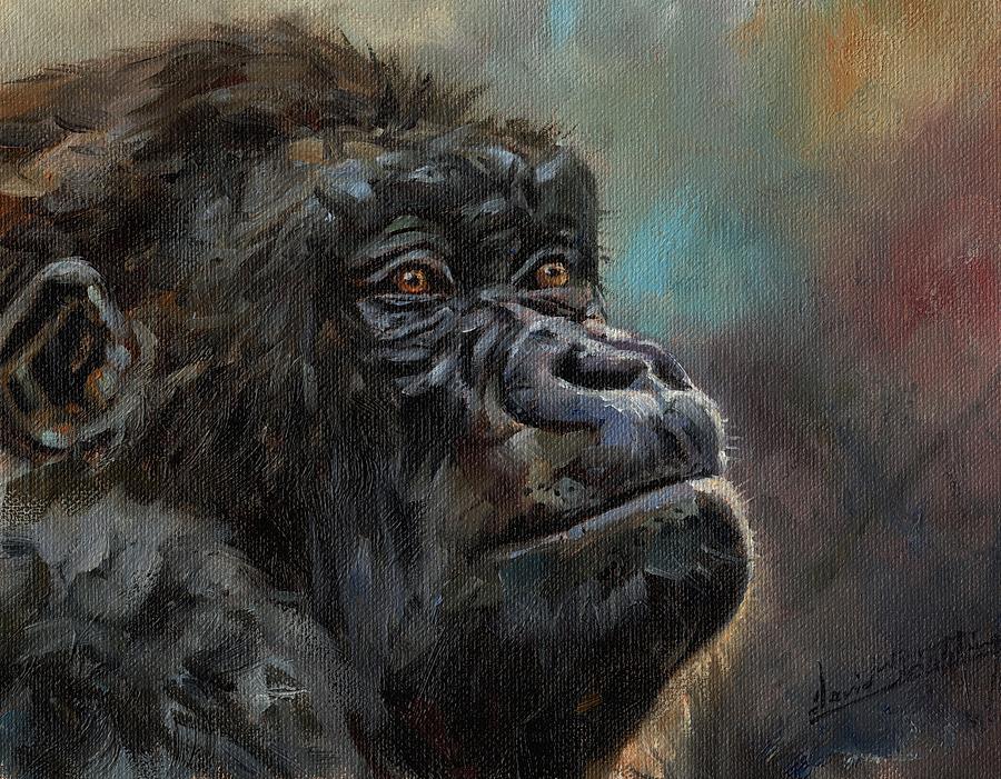 Gorilla Portrait by David Stribbling